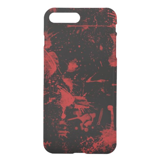 red spots on black background iPhone 7 plus case