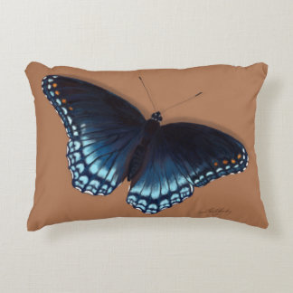 Red-Spotted Purple Admiral Realistic Butterfly Accent Pillow