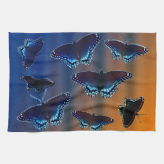 Red Spotted Purple Butterflies Kitchen Towel