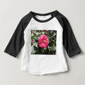 Red spotted white flower of Camellia Marmorata Baby T-Shirt