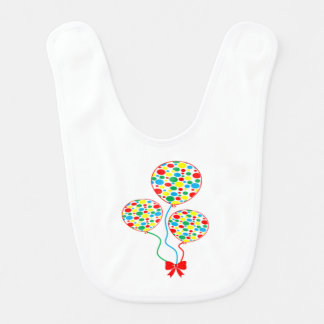 Red, spotty, colourful, balloon bib