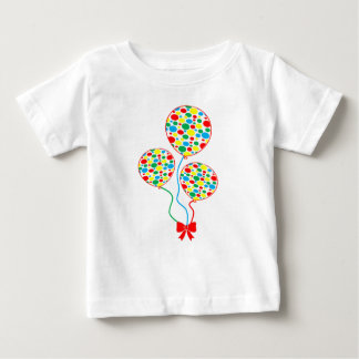 Red, spotty, colourful, gender neutral balloons baby T-Shirt