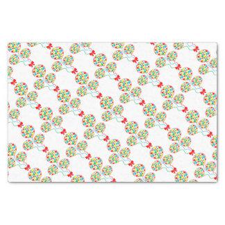 Red, spotty, gender neutral balloon design tissue paper
