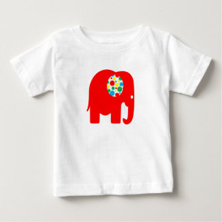 Red, spotty, gender neutral, elephant t-shirt