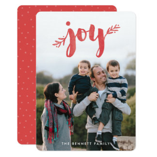 Red Sprigs of Joy Christmas Holiday Photo Card