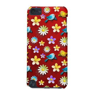 Red Spring Birds and Flowers iPod Touch (5th Generation) Cases