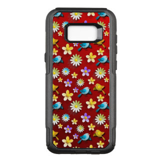 Red Spring Birds and Flowers OtterBox Commuter Samsung Galaxy S8+ Case