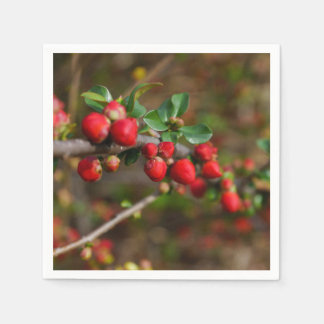 Red Spring Buds Disposable Napkin