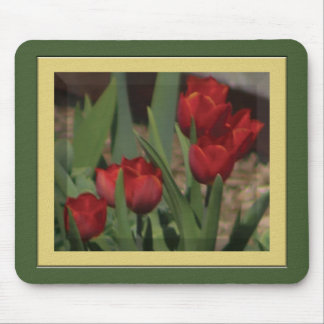 Red Spring Tulips Mousepad
