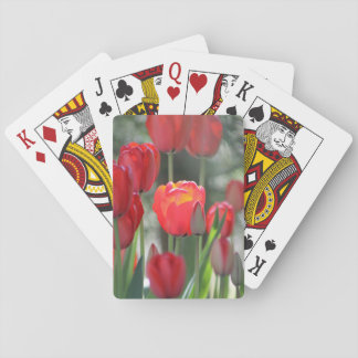 Red Spring Tulips Playing Cards