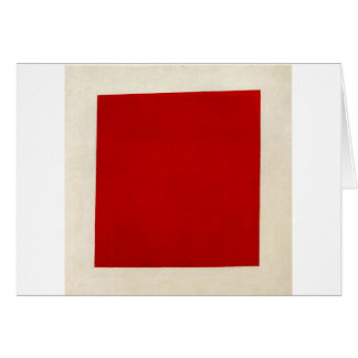 Red square by Kazimir Malevich Card
