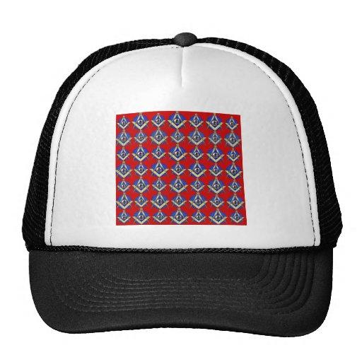 Red Square & Compass Mason Hat