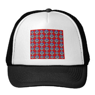 Red Square & Compass Mason Trucker Hat