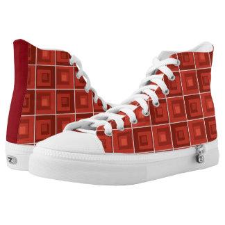 Red Square Pattern, Cool Shoes, Don't be Square