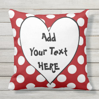 RED Square Polka Dot Pillow CUSTOMIZE IT