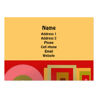 Red Squares and Circles Large Business Card