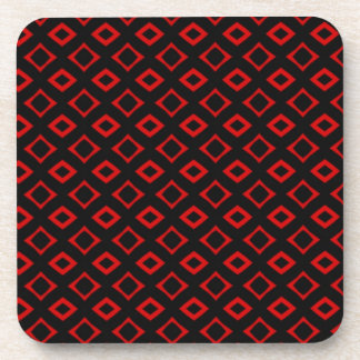 Red Squares Coasters