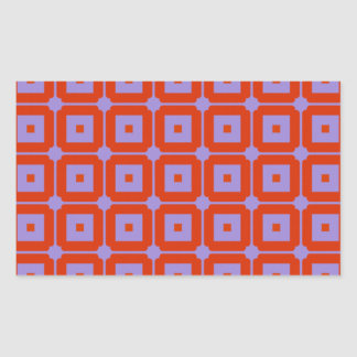 Red Squares Rectangle Sticker