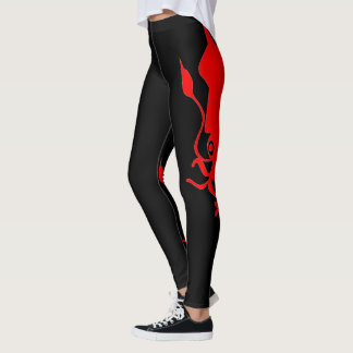 Red Squid Leggings