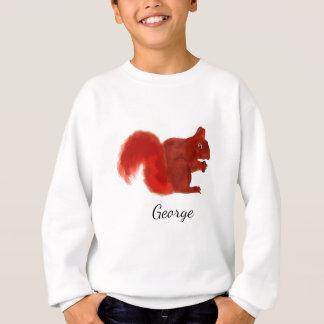 Red Squirrel Cute Woodland Animal Sweatshirt