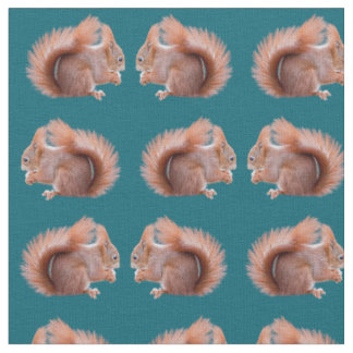 Red Squirrel Frenzy Fabric