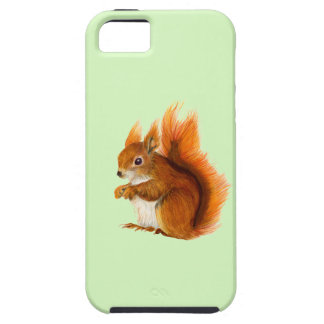Red Squirrel Painted in Watercolor Wildlife Art Case For The iPhone 5