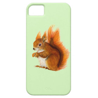Red Squirrel Painted in Watercolor Wildlife Art iPhone 5 Covers