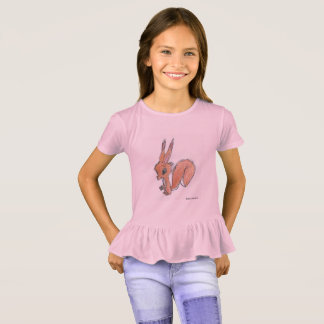 Red Squirrel Ruffle Tee