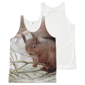 Red squirrell photograph All-Over print tank top