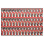 Red St Nicholas Krampus Fabric