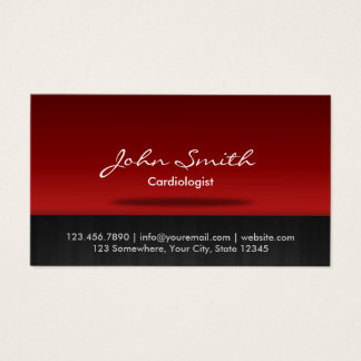 Red Stage Cardiologist Business Card
