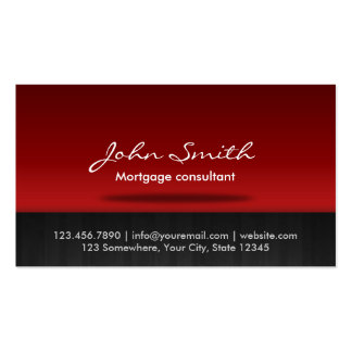 Red Stage Mortgage Agent Business Card
