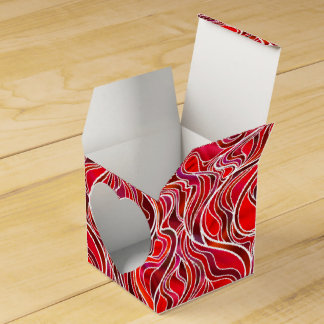 Red Stained Glass Favor Box