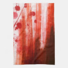 Red Stained Halloween Kitchen Towel