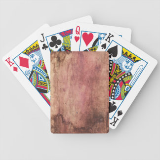 Red stained & scuffed, grunge & dirty blood stains bicycle playing cards