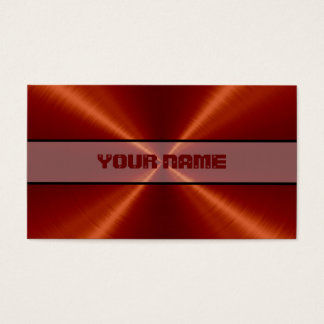 Red Stainless Steel Metal Business Card
