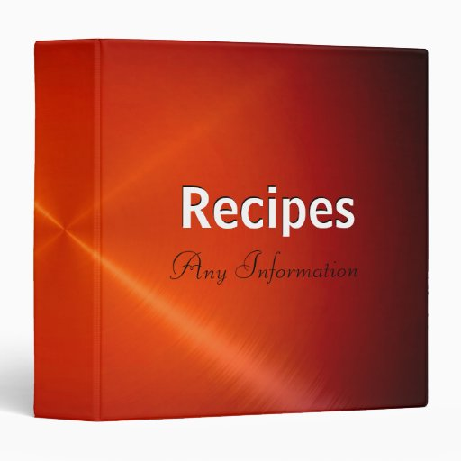 Red stainless steel metallic | Recipes binders