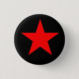 Red Star 1 Inch Round Button