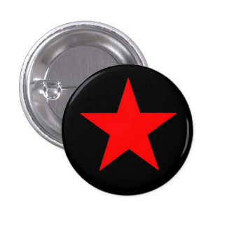 Red Star 1 Inch Round Button
