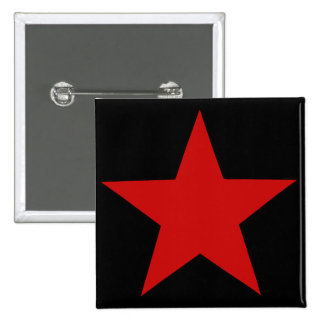 Red Star 2 Inch Square Button