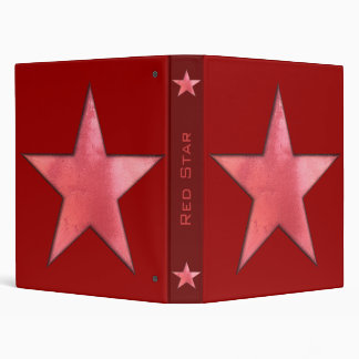 Red Star 3 Ring Binder