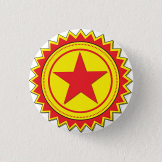 Red Star badge 1 Inch Round Button