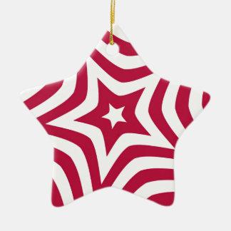 Red Star Ceramic Star Ornament
