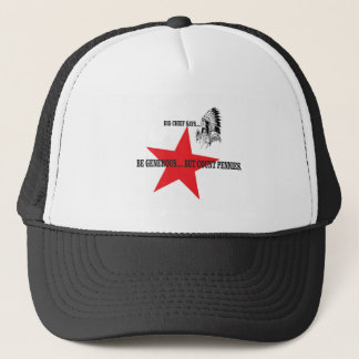 red star chief count pennies trucker hat