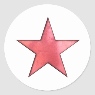 red star classic round sticker