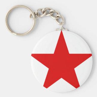 Red Star Communist Socialist Keychain
