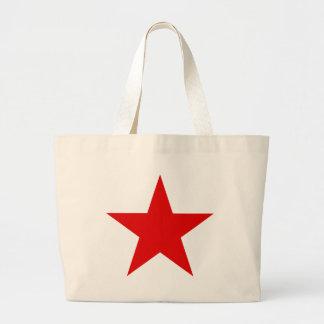 Red Star Communist Socialist Large Tote Bag