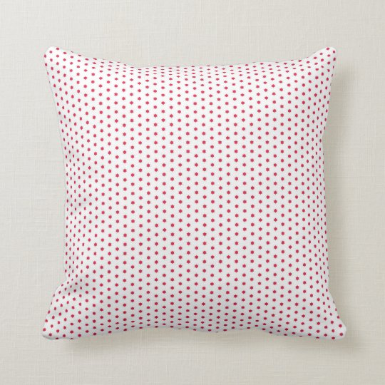 Red Star design pillow. Throw Pillow