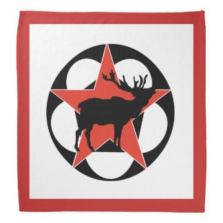 Red Star Elk Camping Bandana