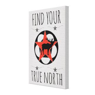 Red Star Elk True North Poster Canvas Print